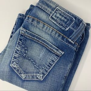 Big Star Casey Light Wash Bootcut Distressed Jeans